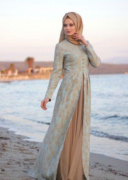 Baju Long Dress Modern