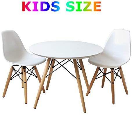 Amazon Com Buschman Eames Style Kids Modern Table 2 Armless Chairs Table Chair Sets Modern Table And Chairs Round Table And Chairs Kids Table Chair Set