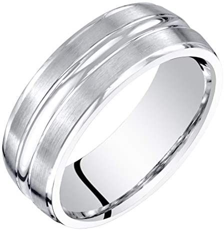 Amazon Com Mens 14k White Gold Wedding Ring Band 7mm Brushed Matte Comfort Fit Sizes 8 To 14 In 2020 White Gold Wedding Rings Bands Wedding Ring Bands Wedding Rings