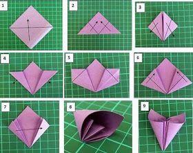 Pétalos De Flores Origami Como Hacer Origami Manualidades Origami Paso A Paso