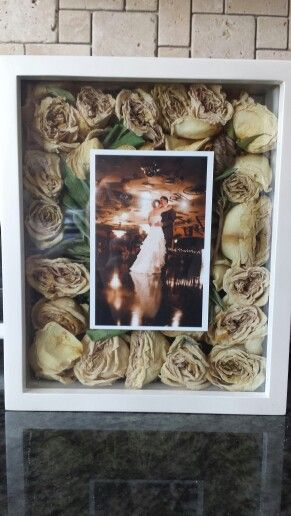 Shadow Box Wedding Picture Bouquet