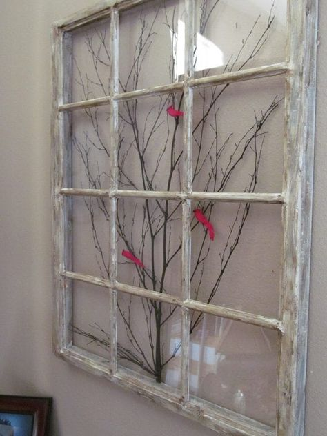 Old Window Frame Decor New Window Frame Art by On Etsy Antique Windows, Wooden Windows, Vintage Windows, Old Windows Painted, Decorative Windows, Painting On Windows, Antique Window Frames, Reclaimed Windows, Recycled Windows