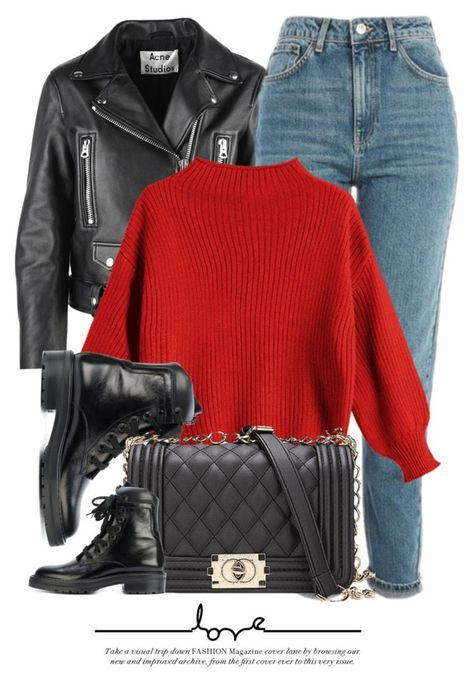 A fashion look from January 2018 by monmondefou featuring Acne Studios, Topshop and Yves Saint Laurent Cute Casual Outfits, Stylish Outfits, Winter Outfits, Holiday Outfits, Look Fashion, Korean Fashion, Fashion Outfits, Queer Fashion, Classy Fashion