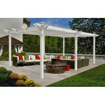 Lodge 14 5 Ft W X 15 Ft D Solid Wood Pergola In 2020 New England Arbors Vinyl Pergola Pergola