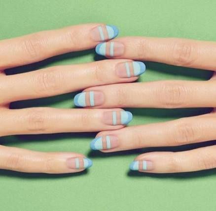 55 Trendy Nails Almond Design Nailart Negative Space Negative Space Nail Art Space Nails Negative Space Nails