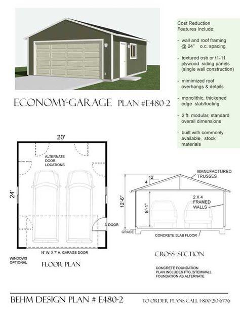 Plans De Garage Plan, Modular Garage Panels