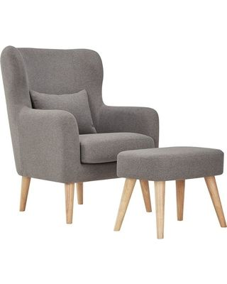 Petite Picks To Make Your Living Room Live Large Chair Ottoman