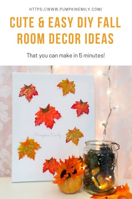 5 Minute Cute Easy Diy Fall Room Decor Ideas Fall Room Decor