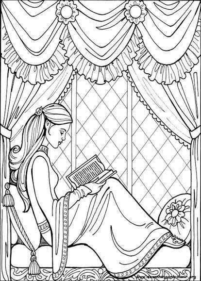 女の子向け】お姫様 プリンセスの塗り絵(ぬりえ) 無料画像