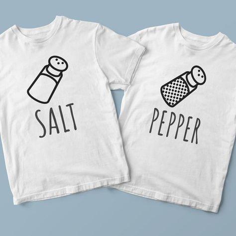 07f45182fc9310 Salt and pepper, funny friend shirts, matching shirts for 2, best friend  shirts, best friend outfits