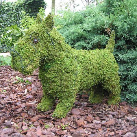 Stuffed Dog Scottish Terrier Military green Stuffed Animal
