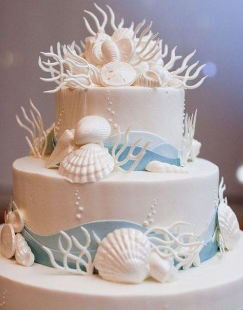 Beach themed wedding cakes designs 88