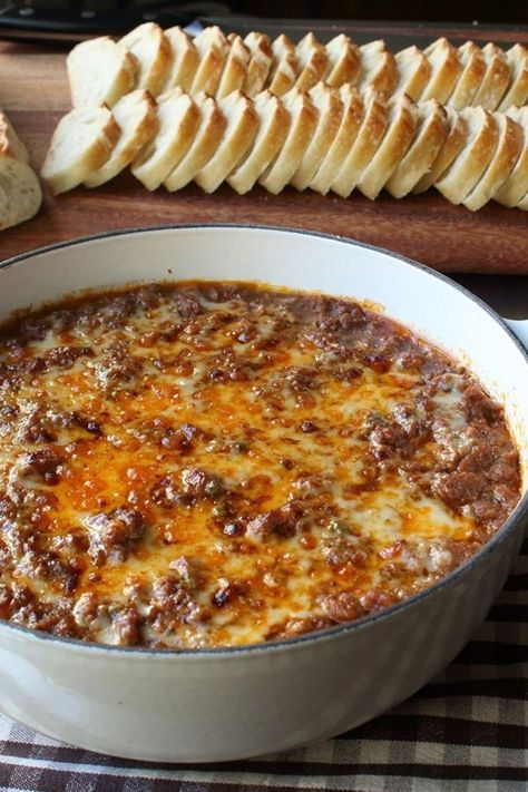 Chef John s Hot Sloppy Joe Dip Amazing dip recipe for the big game day DELICIOUS As usual Chef you are the BOMB appetizers appetizerrecipes appetizerideas apps entertaining Yummy Appetizers, Appetizers For Party, Dip Recipes For Parties, Appetizer Dips, Game Day Recipes, Best Appetizers Ever, Simple Appetizers, Pinwheel Appetizers, Best Appetizer Recipes