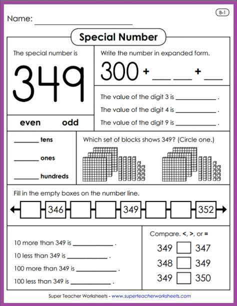 Learn All About Place Value With Special Number Activities From