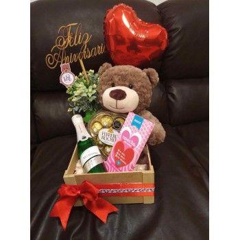 Mi Oso Enamorado Regalos De San Valentín Para Hombres Cestas De Regalo Para Hombres Arreglos De Peluches
