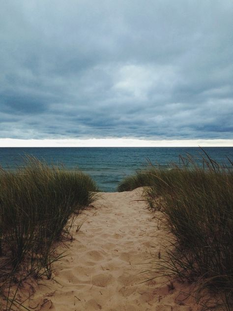 Hike through the dunes and...ahhh! Lake Michigan! This view makes me so happy every single time!