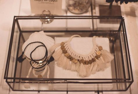 Just a bit of the 2014 Beach Collection. Coqui Coqui Collection - White Cotton Coin Necklace