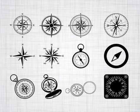 Compass SVG Bundle, Compass SVG, Compass Clipart, Cut Files For Silhouette, Files for Cricut, Compas