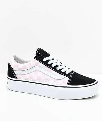 Vans Old Skool Black, Pink \u0026 White