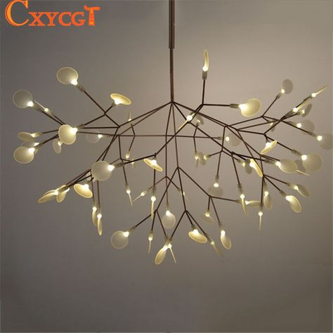 Led Hanging Lamps Novelty Chandelier American Style Living Room Lights Bedroom Chandeliers Iron Glass Fixtures Nordic Lighting Elegant Shape Chandeliers Ceiling Lights & Fans