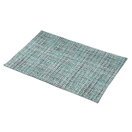 Chic Gray Seafoam Blue Green Boucle Woven Pattern Cloth Placemat Zazzle Com Turquoise Decor Clothing Patterns Placemats