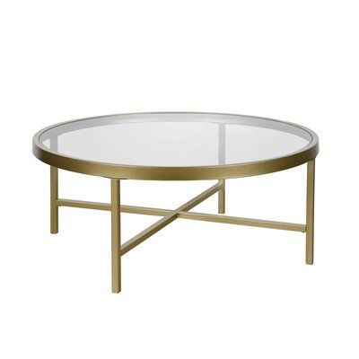 Three Posts Pinehurst Coffee Table Size 15 H X 36 L X 36 W Table Base Color Gold Round Coffee Table Contemporary Glass Coffee Tables Silver Coffee Table