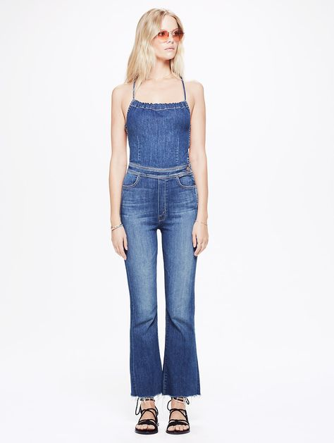 on sale online closer at outlet store MOTHER DENIM | Tie Back Jumpsuit Fray - JUMPSUITS/ROMPERS ...