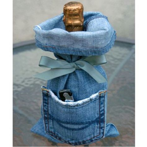 Old Blue Jean gift wrap.