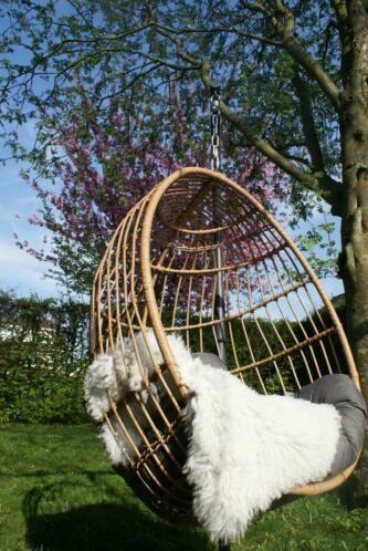 Hangstoel Standaard Marktplaats.Hangstoel Egg Chair Incl Standaard Kussen Schapenvacht