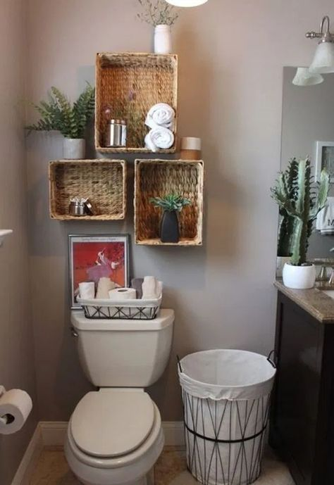 Finding Bathroom Storage For A Small Difficult Bathroom #bathroomideas #bathroomstoragedesign #smallbathroom < homehari's