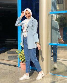 كيفية تنسيق اللون الازرق الفاتح Fashion Blue Coat Outfit Light Blue Coat Outfit