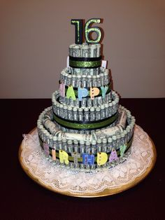 Money cake 16th Birthday by Superduper Moms board Pinterest