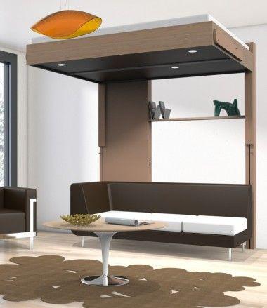 Meubles Gain De Place Lits Escamotables Kubic Up Lit Suspendu Plafond Mobilier De Salon Lit Suspendu