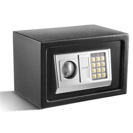 Electronic Steel Money Box with Keypad to Protect Cash Black for Home Homdox Jewelry Mini Security Digital Safe Office or Hotel Passports