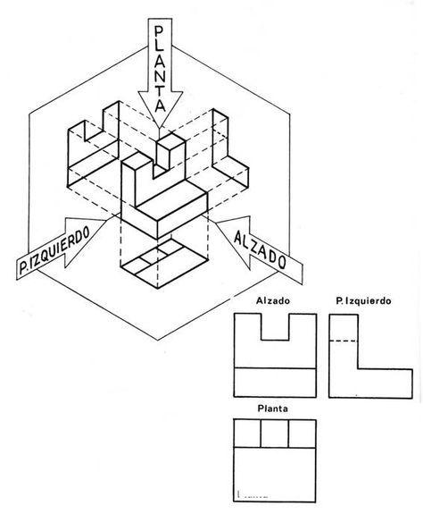 Resultado De Imagen Para Dibujo Tecnico Basico Isometric Drawing Exercises Geometric Shapes Design Technical Drawing