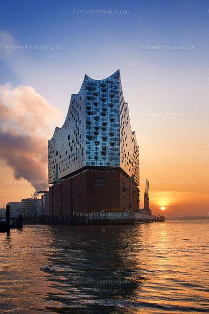 Sonnenaufgang Hinter Der Elbphilharmonie In Hamburg Hamburg Hafen Hamburg Bilder