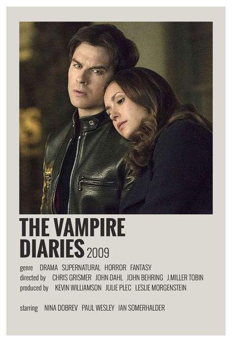 vampire diaries minimalist poster
