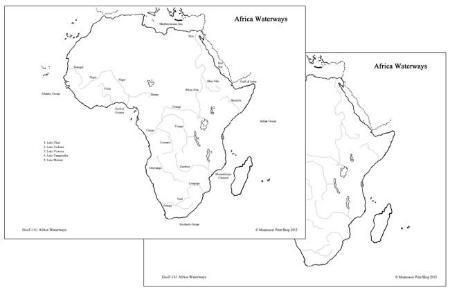 African Waterways Map | Study of Africa | Map, Africa flag, African