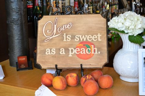 This was from my peach themed/southern themed bridal shower. Loved it!
