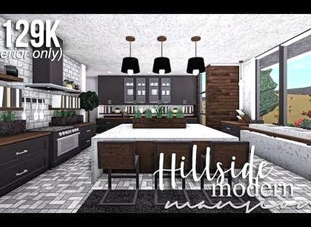 Hillside Modern Mansion Part2 Interior Roblox Bloxburg Gamingwithv Youtube Small House Design House Layouts Luxury House Plans