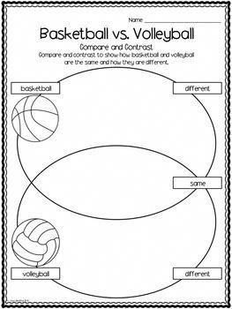 Students Will Learn About Basketball And Volleyball Write Informational Papers About The Sports Com Volleyball Basketball Information Basketball Games Online