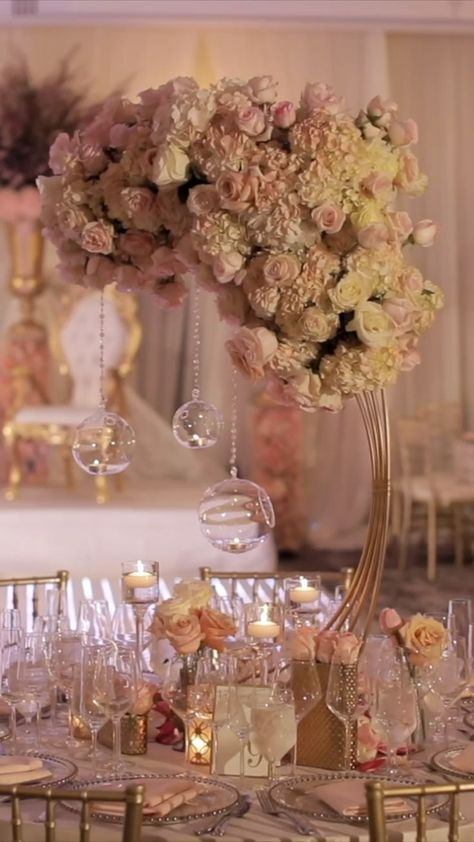 Soft Pink Reception Decorations  Arching Reception Decorations