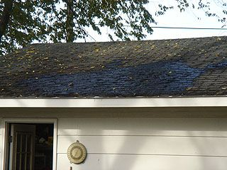 Liquid Tar Roof Patch After Drying