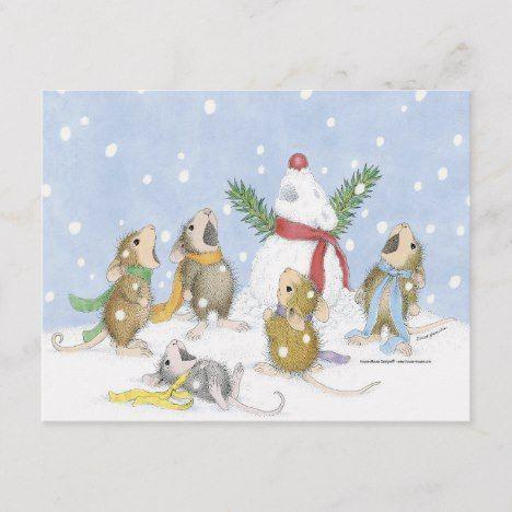 House Mouse Designs Postcard Zazzle Com House Mouse Stamps