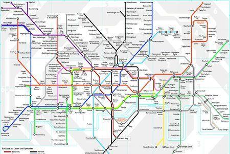 Scheisse Tube Map Redrawn In German London Karte London