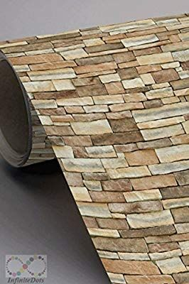 Slate Stone Style Peel And Stick Wallpaper 20 5 In X 18 Ft Roll Wallpaper Amazon Canada Slate Stone Stone Wall Design Patterned Wall Tiles