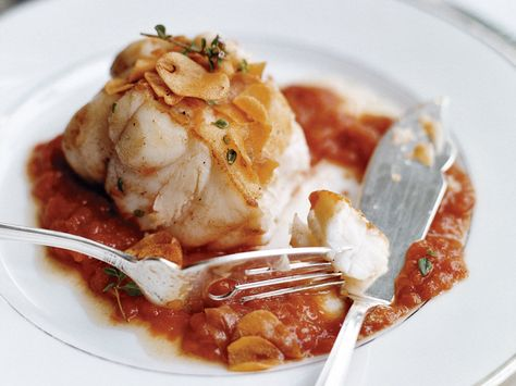 Monkfish in Tomato-Garlic Sauce | Plus: More Seafood Recipes and Tips ...