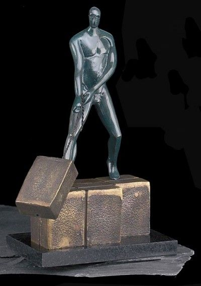 Ambition Bronzed Metal Sculpture T.P.