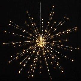 Mains Powered 50cms Silver Starburst 200 LED Indoor//Outdoor Light Ornament