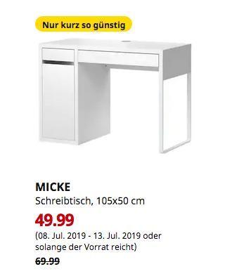 Ikea Hanau Micke Schreibtisch Weiss 105x50 Cm Micke